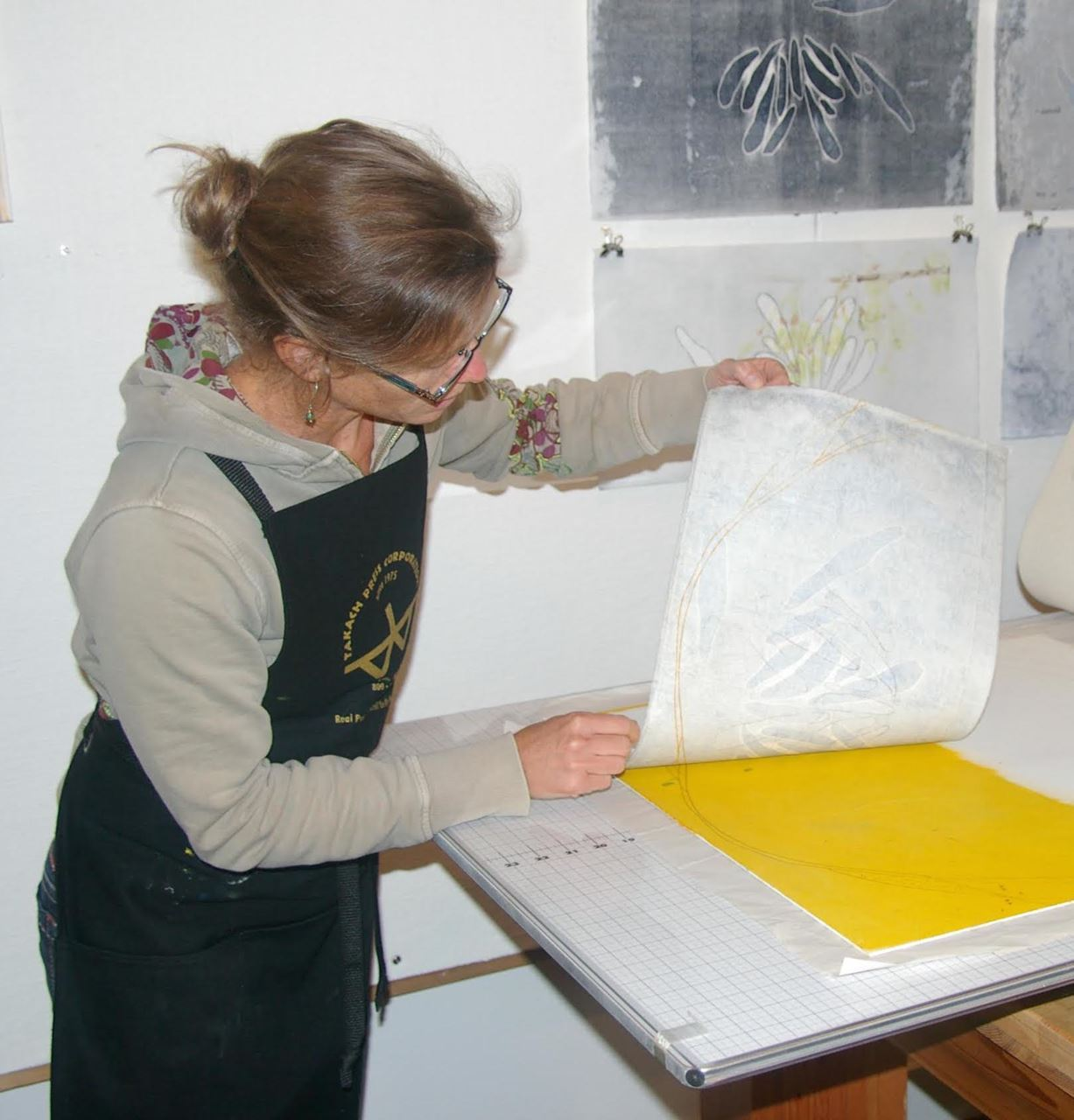 Barn classes martha makosky will lead this fun and informative two day workshop on linocut in its simplest form the block printing process includes carving marks into fandeluxe Gallery